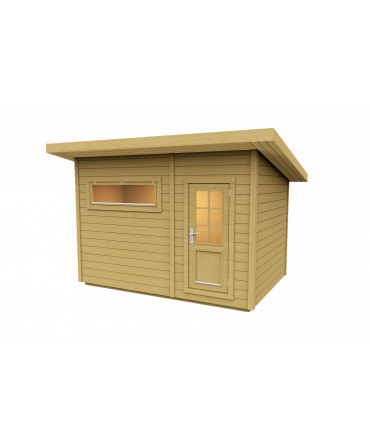 Sauna cube avec vestiaire -...