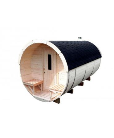Sauna tonneau- 4,5 m x 2,27 m