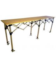 Bar pliable - plateau en bois - 290 x 50 cm