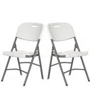 Chaise pliante classique - PVC - Lot de 2